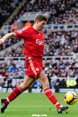 Steven Gerrard iPhone Wallpaper