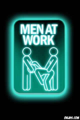 Men at Work iPhone Wallpaper