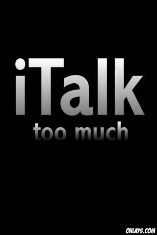text wallpaper. iTalk iPhone Wallpaper