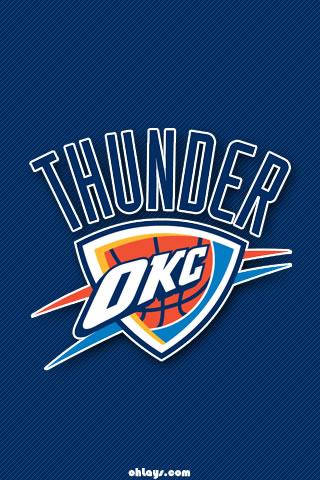 Oklahoma City Thunder iPhone Wallpaper