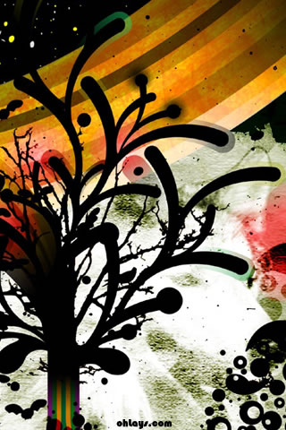 Abstract Tree iPhone Wallpaper