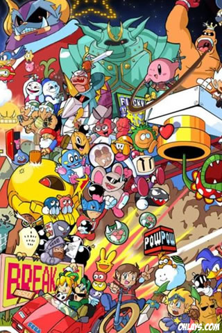 Characters iPhone Wallpaper