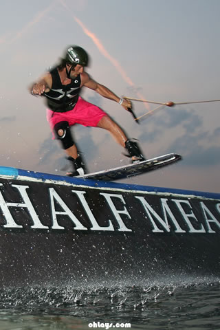 Wakeboarding iPhone Wallpaper