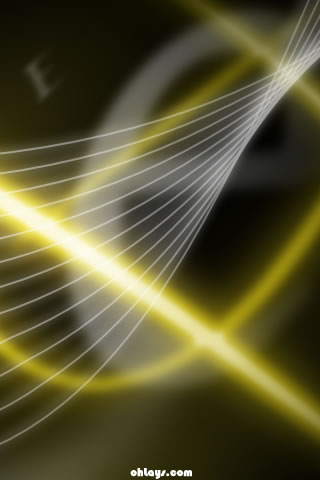 Yellow Abstract iPhone Wallpaper