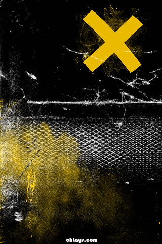 Yellow Grunge iPhone Wallpaper
